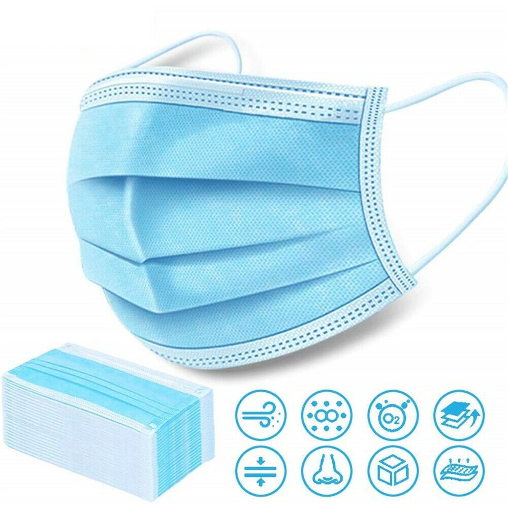 3Ply Non-Woven Fabric Disposable Mouth Masks Adult Anti Haze Mask Anti-dust Masks Windproof Face Masks