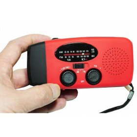 Red Emergency Self Powered Radio