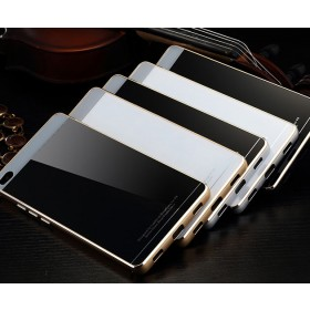 Aluminum Metal Bumper + Tempered Glass Back Case For Huawei Ascend P8 P8 Lite