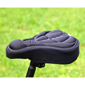 Bike Bicycle Cycle Extra Comfort 3D Soft Gel Seat Saddle Cushion Cover