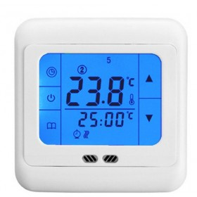 24V LCD Touch Screen Programmable Thermostat for gas boiler,electric valve