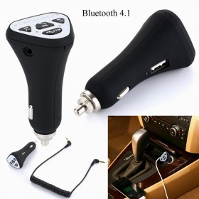 Handfree Bluetooth 4.1 FM Transmitter Audio Car Kit MP3 Player & USB Charger