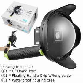Underwater Case Diving Camera Lens Dome Port for Xiaomi Yi 2 4K Action