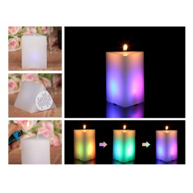 Magic Color Changing LED Real Paraffin Wax Candle