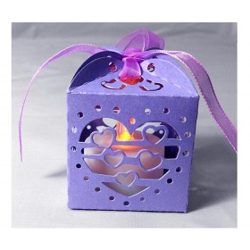 Violet Lanterns Holders For LED Tea Light Wedding Candle