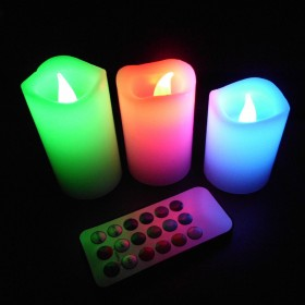LED Flameless Wax Candles