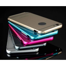 Luxury Aluminum Metal Frame & Acrylic Back Case Cover For iphone6 6 plus