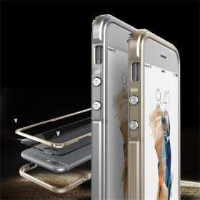 Aluminum Metal Bumper Frame PC Transparent Back Case Cover for iPhone 6