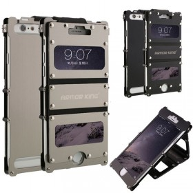 ARMOR KING IRON MAN Stainless Steel Aluminum Metal Case Cover For iPhone 5 5S