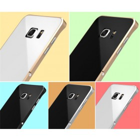 Aluminum Metal Shockproof Stand Bumper Frame Case for Samsung Galaxy S6