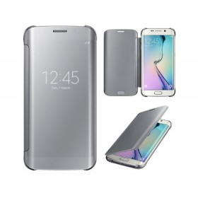 IC Chip Mirror Flip Smart ABS Protective Case Cover for Samsung Galaxy S6/6 Edge