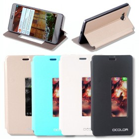 Flip Clear View Leather Case Cover For Elephone P9000