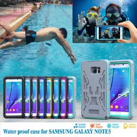 Shockproof Waterproof Dirt Proof Snow proof Case Cover for Samsung Galaxy Note 5