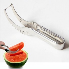 Watermelon Slicer Knife Cutter Corer Server Scoop Stainless Steel Tool