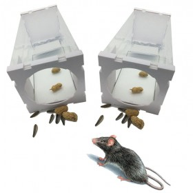 Humane Rat Trap Cage Live Animal Pest Rodent Mice Mouse Control Bait Catch