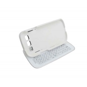 White Wireless Bluetooth Keyboard  for Samsung S3