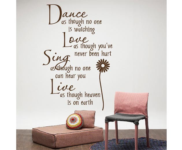 23 40 Inches Stylish Wall Stickers Home Decor English Quote Art Lettering Sticker Wall Decor
