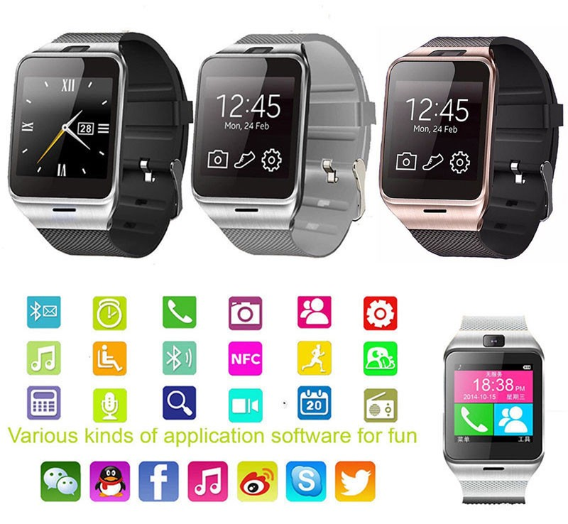 Aplus GV18 Waterproof Bluetooth Smart Wrist Watch GSM NFC