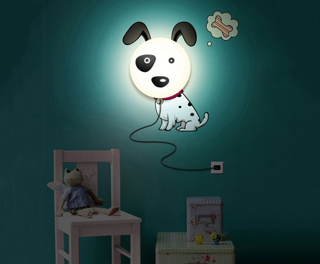 DIY Kid's Bedroom Wallpaper Stickers Wall Lamp Cute 3D Removable  Night Light
