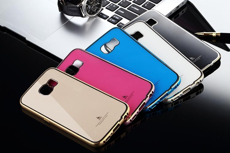Luxury Hard Metal Aluminum Bumper Frame PC Back Cover Case for Samsung Galaxy S6