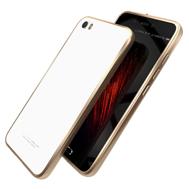 Luphie Aluminum Metal Bumper Tempered glass Back Plate Cover case for XIAOMI MI5 .