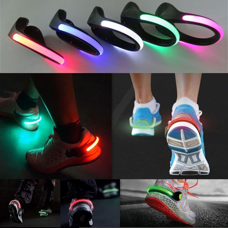 Safety luminous led running walking jogging clip warning shoes heel outdoor safety led running walking jogging clip warning shoes heel light aloadofball Image collections
