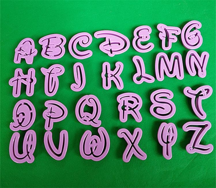 26 letters alphabet 0 9 numbers cake cookies cutters shaper fondant mold