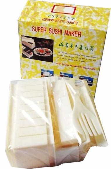 New 5-in-1 Kitchen Sushi Maker Kit Rice Mold Making set