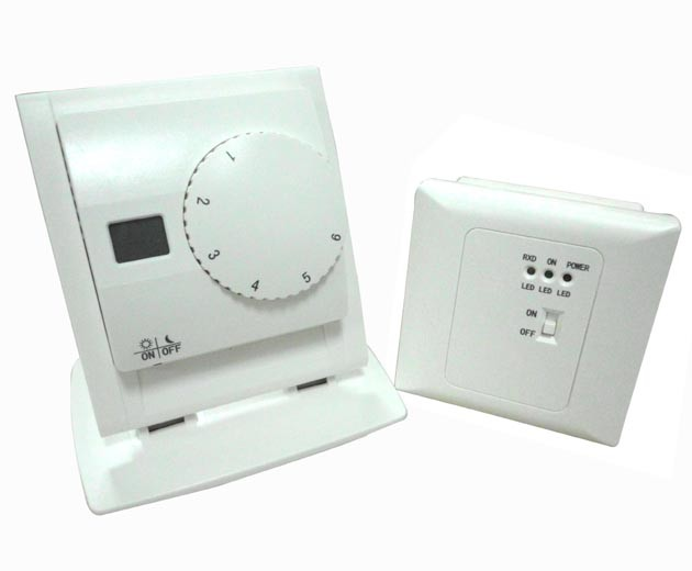 Easy Setting Wireless LCD Display Digital Heating and Cooling Thermostats