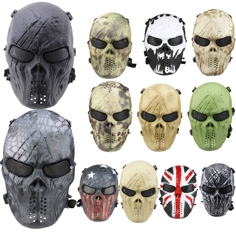 Tactical Gear Airsoft Paintball Cosplay Full Face Protection Game Cs Skull Mask