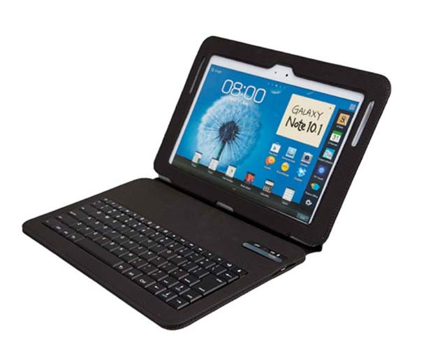Wireless Bluetooth keyboard leather cover case for Samsung Galaxy tablet note 10.1