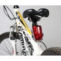 Bike Bicycle 2 Laser Beam and 5 LED Rear Tail Light