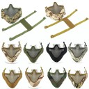 Airsoft Tactical Paintball Shooting Metal Mesh Half Face Mask Goggles Protection