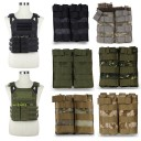 Airsoft Tactical Military Molle Magazine Pouch Double Bags For M4/M16 5.56 223