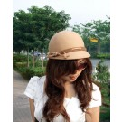 girls fashion wool felt ball cap