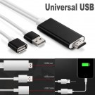 1080P USB To HDMI HDTV Cable Digital AV TV Adapter For iPhone 6s/7/7+/Android
