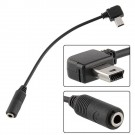 Mini USB to 3.5mm Microphone Mic Adapter Cable Cord