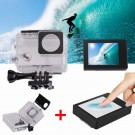 LCD Touch Screen Back Monitor + Touchable Waterproof Case For Gopro Hero 4