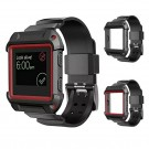 2 in 1 Rugged Protective Shell Case With Silicone Wrist Band Strap for Fitbit Blaze Activity Tracker