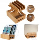 Bamboo Multi-Device Organization Station Dock Charging Station for Smartphone