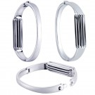 Luxury Stainless Steel Metal Accessory Band Bangle Bracelet For Fitbit Flex 2