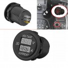 Digital Voltmeter Ammeter Voltage Meter Car Motorcycle LED Dual DC12-24V
