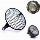 "6.3"" Retro Metal Motorcycle Grill Diamond Side Mount Headlight Cover Cafe Racer"