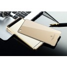 Aluminium Metal Bumper Case Soft Acrylic Back Cover For HUAWEI Ascend P8 P8 Lite