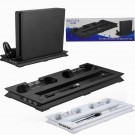 Dual Controller Cooling Fan Cooler Stand Charging Dock for Playstation4 PS4 Slim