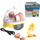 Digital 7 Eggs Mini Incubator Chicken Duck Parrot Quail Pigeon Poultry Hatcher Manual Egg Turning