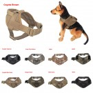 Tactical Military K9 Service Dog Vest Nylon Velcro Police Patrol Harness Handle