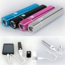 USB Rechargeable Mini LED 18650 Flashlight Torch Phone Charger Power Bank Lamp