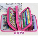 Colors Portable Drawing Sketching Pencils Pen Case Holder Bag