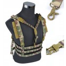 Tactical Chest Rig High Speed Vest Harness with Sling Airsoft CS Game Paintball